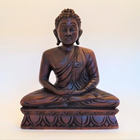 Houten boeddha, decoratie, fairtrade