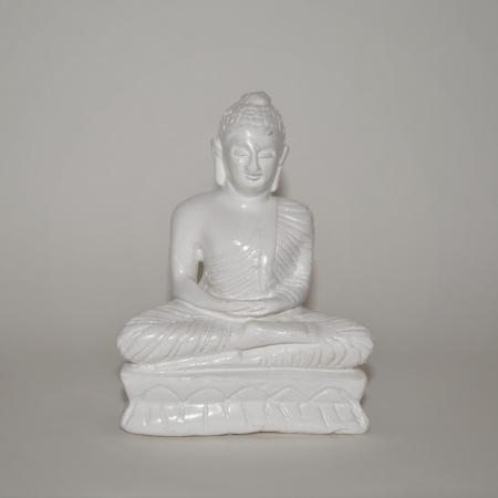 boeddha, sri lanka, wit, steen, aardewerk