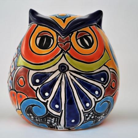 handwerk, uil, steen, aardewerk, gekleurd, fairtrade