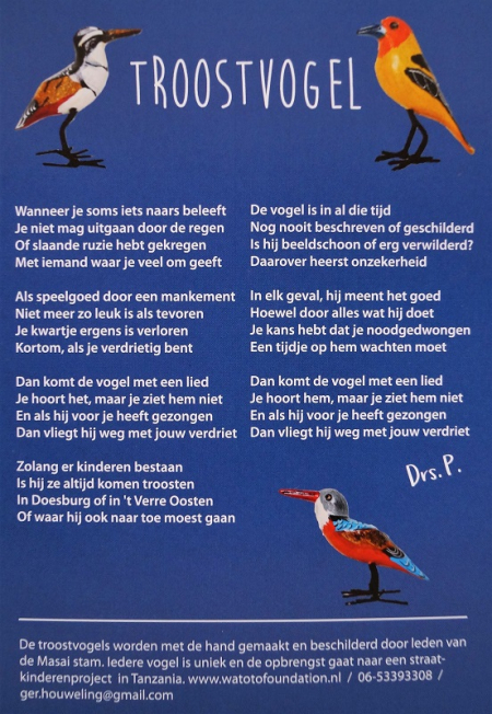 troostvogel gedicht door Drs. P