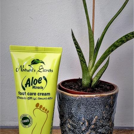foot care cream, aloe vera